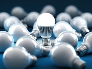 Light bulb concept. 3D render.